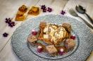 Honeycomb - cinder toffee dessert.