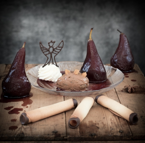 Poached Pears.